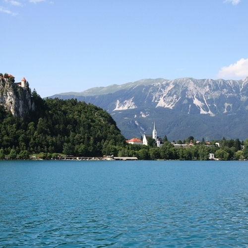 Guided walking in Slovenia-Slovenia - Lake Bled scene